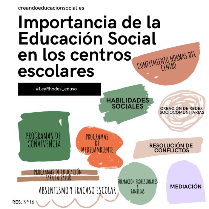 importancia de la Educación Social en los centros escolares